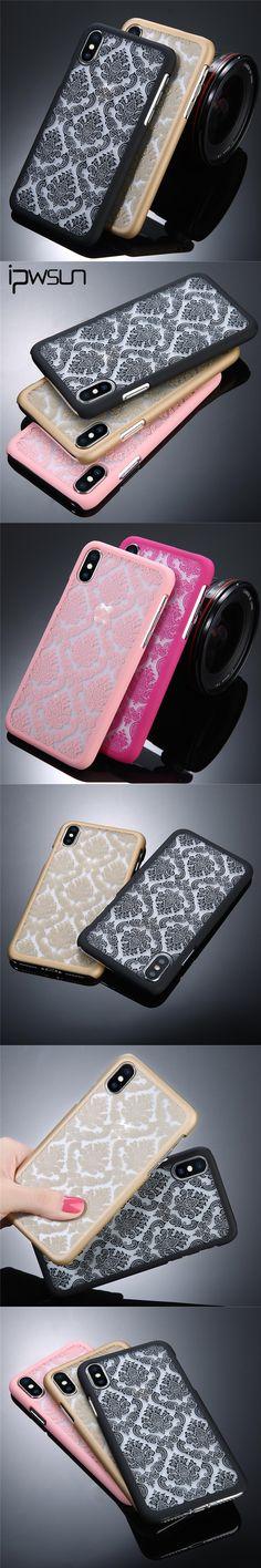 USLION Vintage Lace Flower Phone Case For iPhone 7 7 Plus 6 6s Plus 5 5s SE 5C 4 4S Case Hard PC Beautiful Phone Case Back Cover