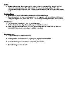 Piano Lesson Contract Template  Music    Piano Lessons