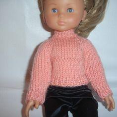 Pull  rose pour poupées 33 cm corolle les chéries, paola reina, little darling