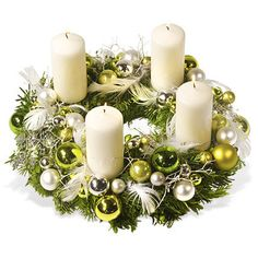 – a unique product by Gabi-Dekotraum on DaWanda Christmas Flower Decorations, Christmas Advent Wreath, Christmas Flower Arrangements, Christmas Table Centerpieces, Magical Christmas, Christmas Candles, Christmas Love, Christmas Themes, Handmade Christmas