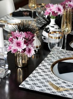 MY MODERN GLAM TABLE Get the Look with Stone Textile   Erika Brechtel   Brand Stylist