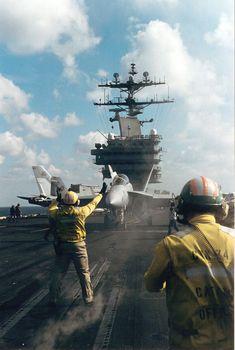 Super Hornet aboard CVN 74