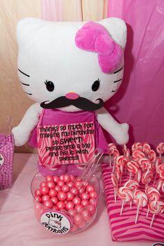 Hello Kitty Mustache Bash | CatchMyParty.com