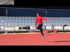 TRIPLE JUMP HOPS WITH DOUBLE ARM ACTION Triple Jump, Basketball Court, Arms, Action, Group Action, Weapons