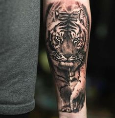 tiger tattoo design For Women is part of Best Tiger Tattoos Designs For Men Women - Lone Tiger forearm tattoo Tiger Forearm Tattoo, Mens Tiger Tattoo, Tiger Tattoo Design, Cool Forearm Tattoos, Forearm Tattoo Design, Lion Tattoo, Tiger Tattoo Sleeve, Tattoo Art, Tiger Tattoo Images