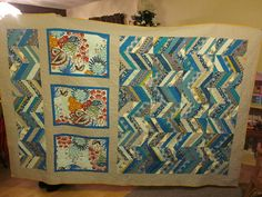 Mommy's Nap Time: Mom's Quilt How To Finish A Quilt, Contemporary Design, Chevron, Quilting, It Is Finished, Blanket, Mom, Jealous, Modern