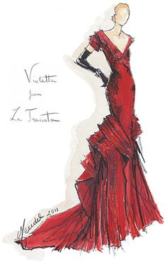 Gilles Mendel - La Traviata | Designers Sketch Their Fantasy Opera Costumes (2011)