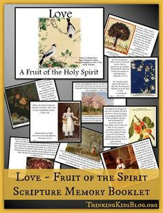 Love ~ A Fruit of the Holy Spirit is the second Scripture Memory Booklet in my 2015 series! Did you miss the first one? You can download the Fruit of the Holy Spirit Scripture Memory Booklet now! T...