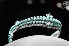 turquoise tiara at exhibition