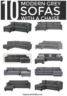 10 modern grey sofas with a chaise