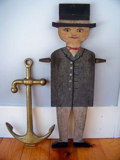Antique Nantucket Whirligig  Sailor  Dewey by SundriesandSalvage