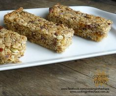 Recipe Muesli Bars by Cooking in the Chaos, learn to make this recipe easily in your kitchen machine and discover other Thermomix recipes in Baking - sweet. Lunch Box Recipes, Snack Recipes, Cooking Recipes, Lunchbox Ideas, Bellini Recipe, Muesli Bars, Kid Friendly Meals, Nut Free, Brownie Recipes