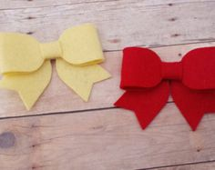 CHOOSE ANY TWO / 30 Colors Wool Felt Hair Bow by mellybeebows