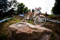 Nino Schurter from Switzerland won MTB Cross Country Worldcup Race in Mount St. Anne #Canada