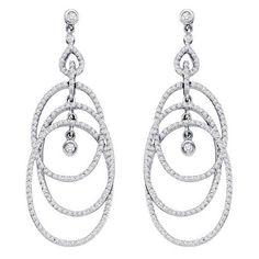 1 7/8CTW Diamond Earrings