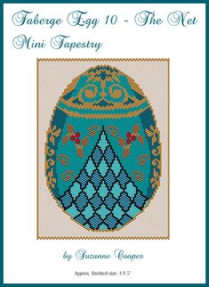 Faberge Egg 10 The Net Mini Tapestry | Bead-Patterns