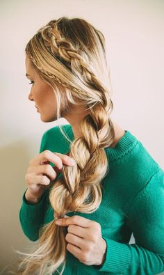 After you've secured it with a band, volumize your #braid by gently pulling on each section of the plait. #HairTips by #PrettySalonAZ