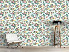 Design #Tapete Blumen Bouquet Delicate, Rugs, Design, Home Decor, Self Adhesive Wallpaper, Wall Papers, Farmhouse Rugs, Decoration Home, Room Decor