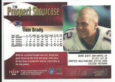 2000 FLAIR SHOWCASE TOM BRADY ROOKIE RC LEGACY 1/20.....SUPER RARE...LOOK | eBay