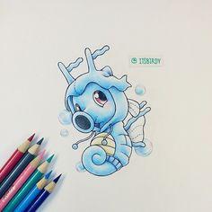 Artist: Itsbirdy | Pokémon | Horsea