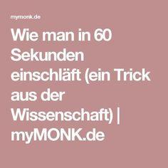 Wie man in 60 Sekunden einschläft (ein Trick aus der Wissenschaft) | myMONK.de