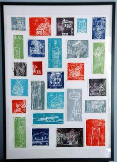 Block printing collage