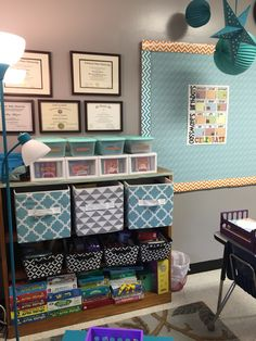 School speech therapy room