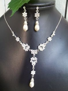 Milla Swarovski crystal bridal necklace and earrings set