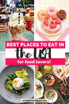 This USA foodie guide highlights my top recommendations for the best Foodie destinations in the USA, best foodie adventures and culinary destinations in the USA, top restaurants in the US and typical American dishes. Click through to discover the best places to eat in the US if you are a travel foodie. Foodie travel USA l where to eat in the US I best cities for foodies in the US I Traditional USA food recipes #FoodieTravel #USAFood #USARestaurants Travel Blog, Usa Travel, Foodie Travel, Travel Guide, Food L, Love Food, Around The World Food, Strawberry Dessert Recipes, American Dishes