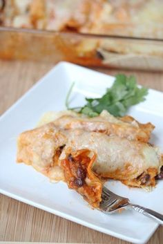 Sweet Potato and Black Bean Enchiladas ~ part of our 31 Days of Freezer Cooking Recipes | 5DollarDinners.com