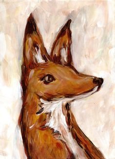 horatio the fox, illustration by heather buchanan, via etsy.