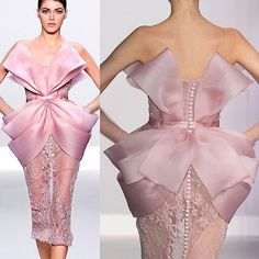 Ralph & Russo #hautecouture #hautelook #pale #pink #couture #style #fashion #design #runway #love #fashionable #ralphandrusso