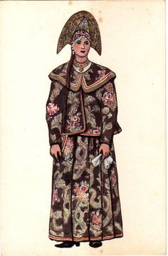Woman Sunday clothes,Kostroma Province