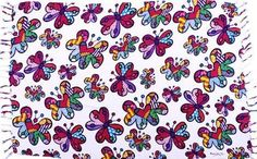 """""""Butterflies"""" wrap/canga  www.copabikinis.com"""