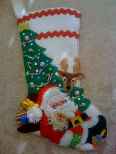 Felt Christmas stocking.