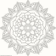 Flower Mandala Coloring Pages #436