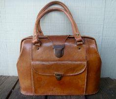 Vintage Leather Camera Bag.