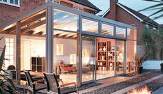 Double Glazed Lean To Conservatories from Crown Conservatories & Windows in Fleet & Reading. A Lean To Conservatory is a practical & versatile conservatory. Curved Pergola, Pergola Plans, Gazebo, Pergola Ideas, Lean To Conservatory, Glass Conservatory, Conservatory Design, Backyard Ideas, Household Tips