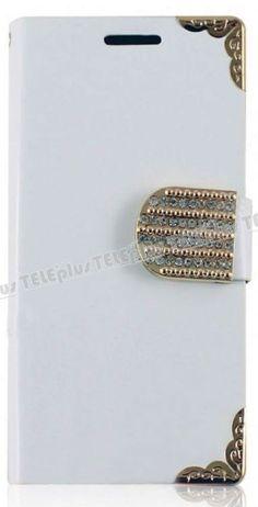 Samsung Galaxy S4 Mini Beyaz Taşlı Cüzdanlı Deri Kılıf -  - Price : TL27.90. Buy now at http://www.teleplus.com.tr/index.php/samsung-galaxy-s4-mini-beyaz-tasli-cuzdanli-deri-kilif.html