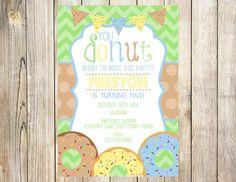 Donut Birthday Party Invitation by EmmyJosParties on Etsy
