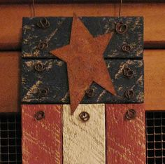 Rustic Wooden American Flag made from Reclaimed Lath by SewArtzy, $13.95 This is a beautiful patriotic decoration for all year long!!!
