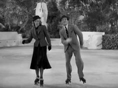 tap dancing on roller skates- from Shall We Dance