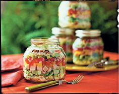 Try this layered cornbread salad and you'll soon wonder where it's been all your life. Our recipe calls for store-bought Parmesan-peppercorn dressing, Layered Cornbread Salad, Southern Cornbread Salad, Cornbread Salad Recipes, Turkey Salad, Ham Salad, Cobb Salad, Potato Salad, Retro Recipes, Vintage Recipes