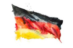 Flag of Germany. Watercolor Graphics Flag of Germany, hand drawn watercolor illustration by undrey Cochem Germany, Rothenburg Germany, Nuremberg Germany, Hand Illustration, Watercolor Illustration, Illustrations, Hanover Germany, Baden Germany, Stuttgart Germany