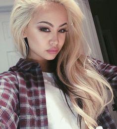 Blonde asian tranny