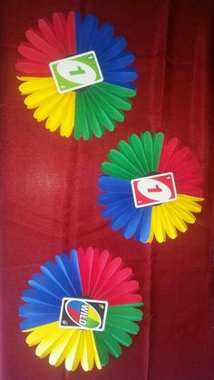 Uno Birthday Decorations. Uno Rossette Wall by VannessasCreations