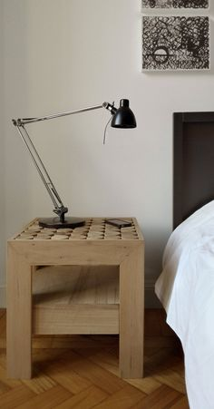 Solid wood bedside table with drawers SOFIA by mg12 | #design Monica Freitas Geronimi