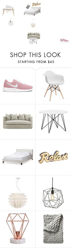 """Untitled #4"" by sara-myllymaa on Polyvore featuring interior, interiors, interior design, home, home decor, interior decorating, NIKE, Baxton Studio, Possini Euro Design and Serena & Lily"