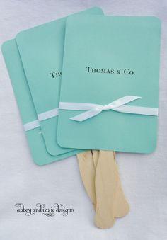 Tiffany Blue Wedding Fans by abbeyandizziedesigns on Etsy