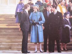 December 25, 1981: Prince Charles & Princess Diana & The Royal family leaving St Georges Chapel after morning service.